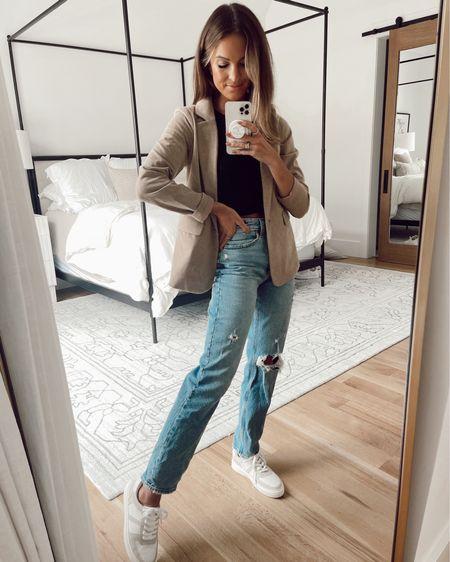 xs in blazer / 26 in jeans  #LTKSale