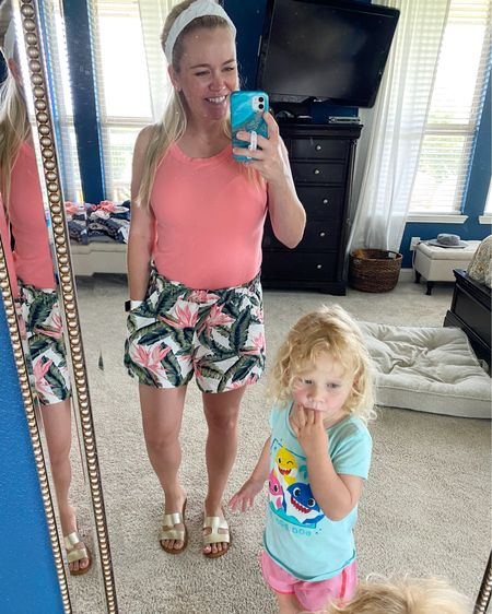 I'm loving these summery shorts so much!! Paired with this comfy tank, it makes for the easiest summer outfit ☀️! Oh, and my co-model gives it the nod of approval as well.    #LTKDay #LTKunder50 #LTKunder100 http://liketk.it/3haqb #liketkit @liketoknow.it    You can instantly shop my looks by following me on the LIKEtoKNOW.it shopping app