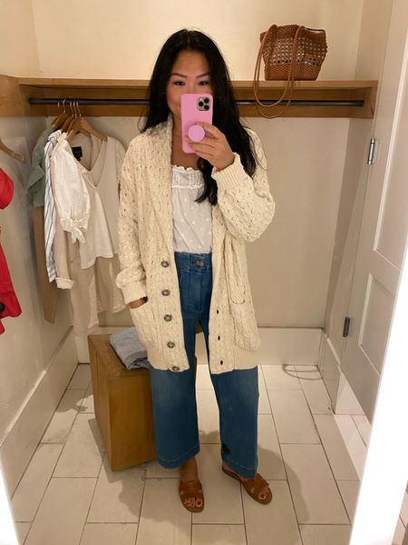 Anthropologie try-on: The coziest cardigan sweater!  #LTKstyletip