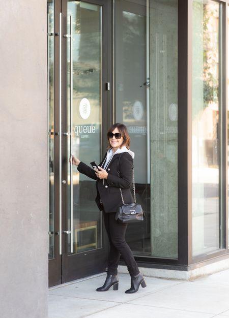 All black outfit inspo! Wearing my favorite Veronica Beard blazer.   #LTKsalealert #LTKstyletip #LTKSeasonal