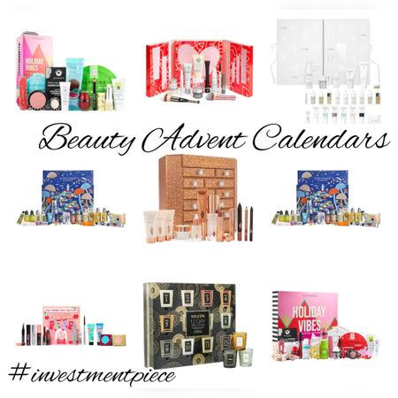 Give the gift of beauty all season long with an advent calendars! From skincare to candles, serums to lipsticks, I would love to get any of these beauty advent calendars from @sephora #investmentpiece   #LTKbeauty #LTKHoliday #LTKGiftGuide