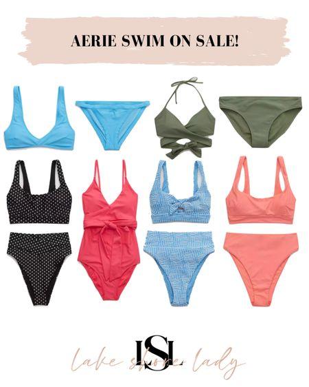 Aerie swim on sale! @liketoknow.it http://liketk.it/3gsBK #liketkit #LTKsalealert #LTKunder100 #LTKunder50  Swim sale Bathin suit sale Bikini sale