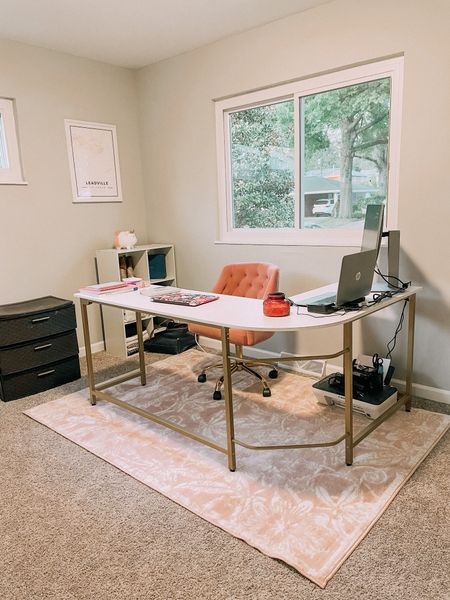 Love this pink gold and white office set up! Such good prices too! #office   #LTKstyletip #LTKworkwear #LTKhome