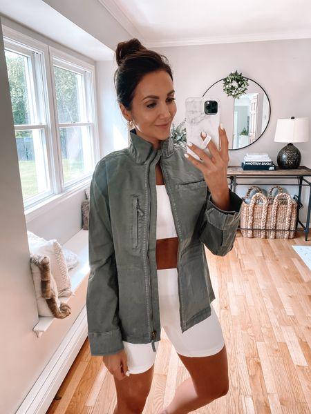 amazon jacket, - wearing size 4, amazon workout set #anna_brstyle http://liketk.it/3idJA #liketkit @liketoknow.it