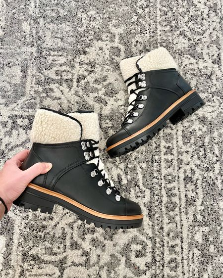 """Get an extra $30 off these #marcfisher boots PLUS 10% off if you do in-store pick up! Use code """"hollyjolly"""" at checkout. Part combat boot part snow boot 🥾 http://liketk.it/33cib #liketkit @liketoknow.it #LTKshoecrush #LTKsalealert #LTKunder100 #combatboots #snowboots #winterboots #skiboots #winterwear #wintershoes #dsw #dealalert #thebookofcaleb #shoesale #bootssale #desmoines #iowa #midweststyle"""