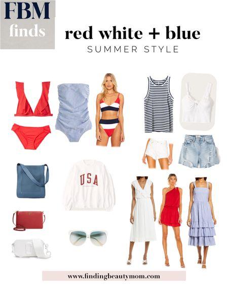 Fourth of July style, July 4, red white and blue, USA, finding beauty mom http://liketk.it/3hPrr #liketkit @liketoknow.it #LTKtravel #LTKswim #LTKstyletip