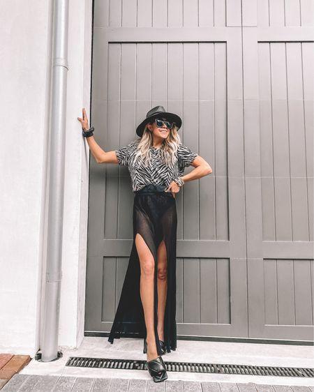 Shopbop Black Skirt Outfit aide http://liketk.it/3cMh1 #liketkit @liketoknow.it #LTKstyletip #LTKtravel