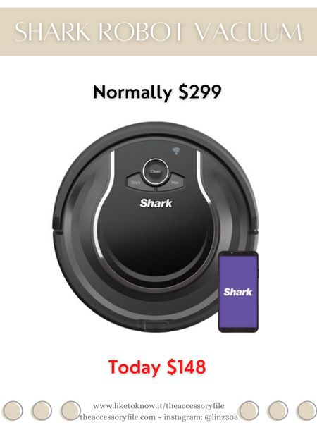 Shark Robot Vacuum on sale. Normally $299, currently $148.  For the home, cleaning products, vacuum cleaner, Walmart finds, Walmart find, Walmart sale    http://liketk.it/3i5K6   #liketkit @liketoknow.it #LTKhome #LTKsalealert