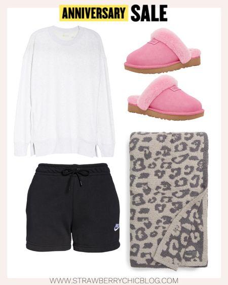 My favorite Ugg slippers and a Barefoot Dreams blanket make lounging extra cozy.   #LTKsalealert #LTKhome