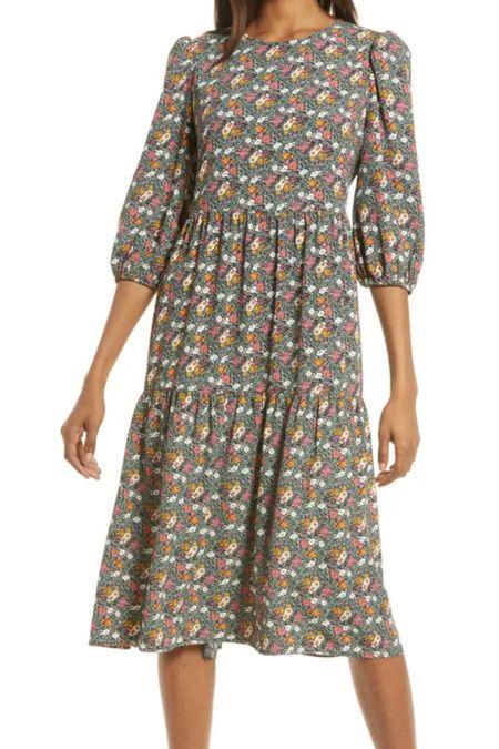 Love this floral midi dress from the NSALE! #liketkit @liketoknow.it http://liketk.it/3jrZd #LTKsalealert