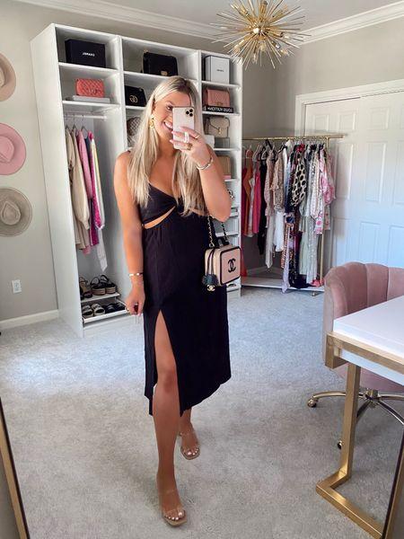 Black cutout midi dress from ShowPo http://liketk.it/3hxAj #liketkit @liketoknow.it #LTKstyletip #LTKshoecrush #LTKunder100