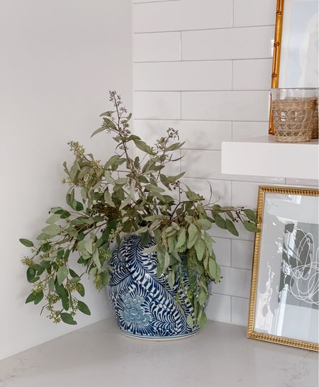 The prettiest ginger jar with real eucalyptus!   #LTKhome