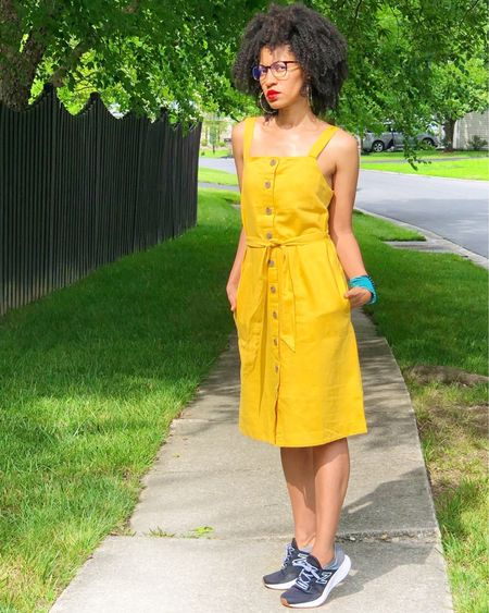 I found the perfect linen dress and yes, it has pockets! Great for a look that's casual yet pulled together. Also comes in green, black, red but, I love to back in the sunshine. So this color choice was easy. http://liketk.it/3eMRn #liketkit @liketoknow.it Shop your screenshot of this pic with the LIKEtoKNOW.it shopping app   #liketoknowitunder50