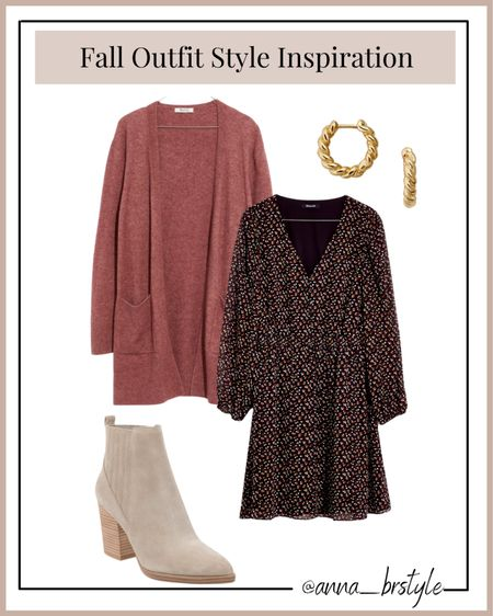 fall style, fall outfit, workwear outfit, teacher outfits, madewell dress on sale #anna_brstyle  #LTKSale