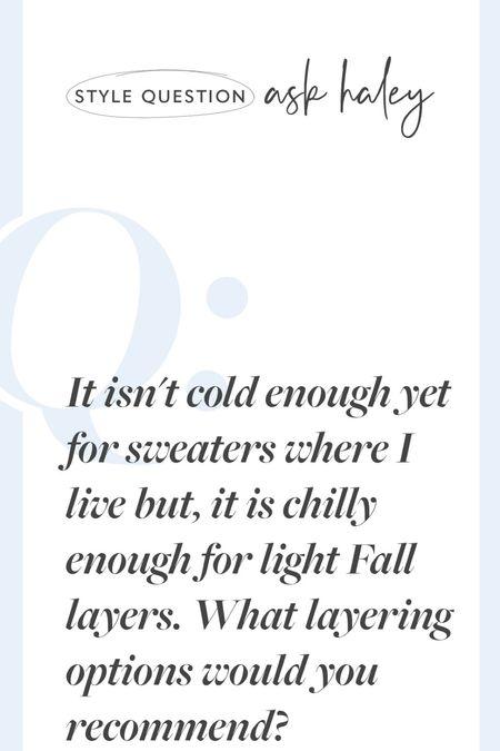 Light layers for Fall, cooler morning layers   #LTKSeasonal #LTKstyletip #LTKtravel