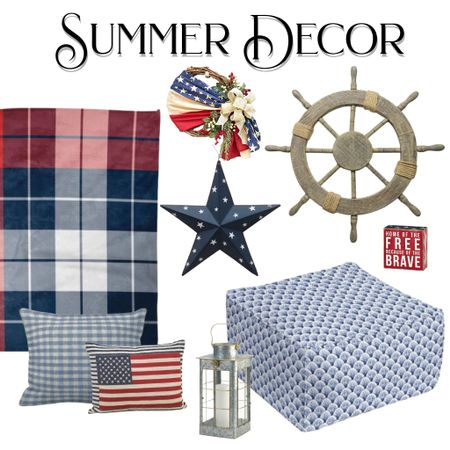 Summer decor from Memorial to Labor Day in red, white and blue. Cottage, cabin perfect accessories!   #LTKhome #LTKSeasonal