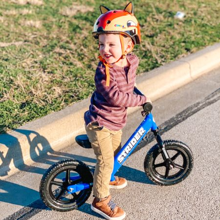 The best toddler bike and helmet duo! Perfect for teaching kids to ride bikes without training wheels! http://liketk.it/359Cu #liketkit @liketoknow.it #LTKkids #LTKfamily