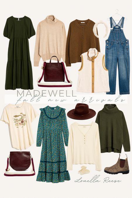 madewell fall new arrivals: , so many good fall sweaters, dresses, and handbags + the best straight leg overalls!   #LTKunder100 #LTKSeasonal #LTKstyletip