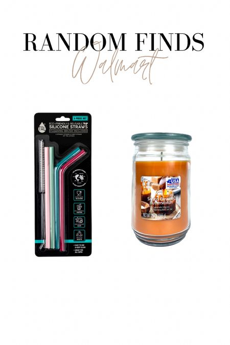 Random Walmart finds! Grabbed these reusable straws, and these mainstay candles are SO CHEAP and smell up a whole room. I love these!!!   #LTKsalealert #LTKhome #LTKbacktoschool