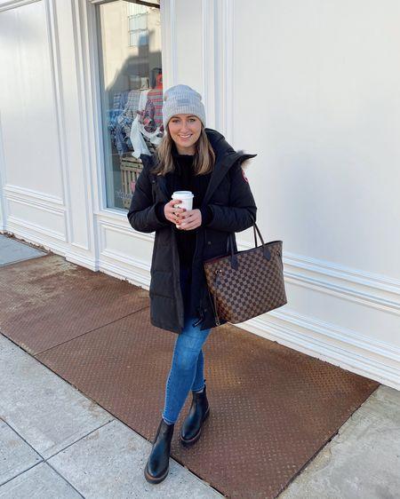 Canada Goose coat, Chelsea boots & grey beanie http://liketk.it/31veL #liketkit @liketoknow.it #LTKunder50 #LTKunder100 #LTKstyletip