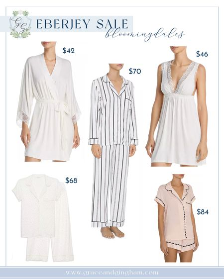 Eberjey slips, pajama sets, robes, undies, and bras currently on sale at Bloomingdales! Up to 60% off! Shop now — sizes going out of stock quickly! ✨  #LTKgiftspo #LTKNewYear #LTKsalealert