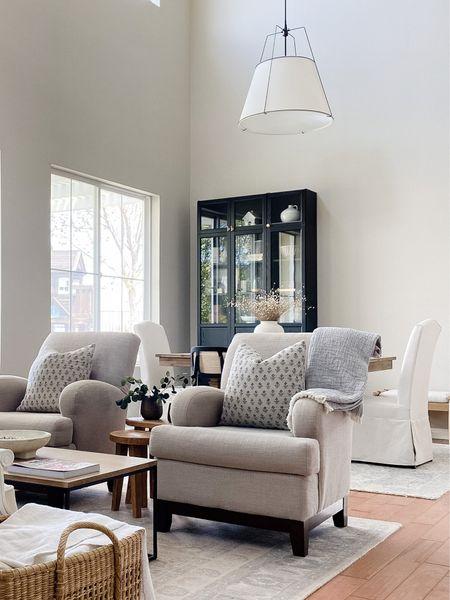 Dining room, living room, neutral decor. Rejuvenation pendant   #LTKstyletip #LTKhome #LTKsalealert