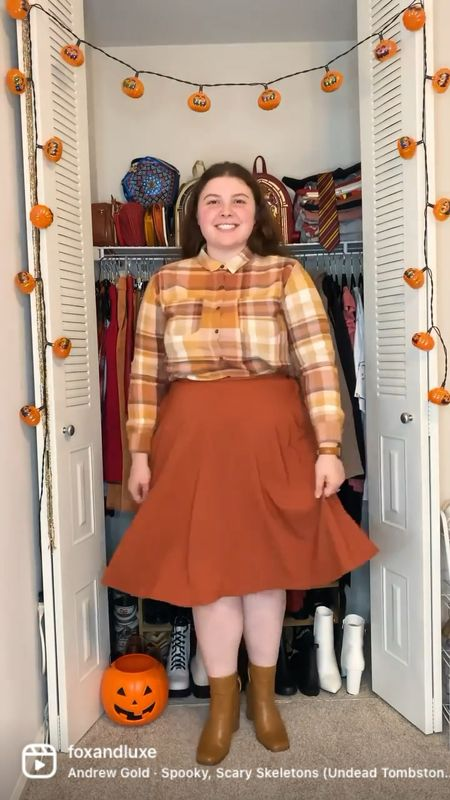 I am so in Love with this scarecrow inspired fall outfit! #ltkfall #stylewithliz #smallfat #size14 #fallinspo #yoursizeyourstyle #autumncolors🍁 #halloweeneveryday  #LTKcurves #LTKbacktoschool #LTKSeasonal