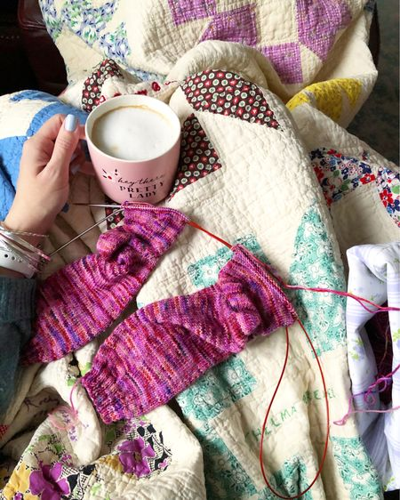 Linking up some of my favorites, including my favorite coffee, as well as some items similar to what you see here. Hope the links are helpful! Happy Sunday, friends! http://liketk.it/38S2A #liketkit @liketoknow.it #coffee #vintagequilt #sundayfeels #cozysunday #knitting #sockknitting #LTKunder50 #LTKunder100 #LTKhome