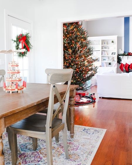 My favorite view 🎄 I sit at the kitchen table and work most days and love seeing Christmas decor in all directions 😍 PS — there's another tree directly behind where I sit 🤪 Important Q: how many trees do you put up in your house? 😆 . . . . . . . . .  http://liketk.it/33cOV @liketoknow.it @liketoknow.it.home #liketkit #StayHomeWithLTK #LTKhome #LTKunder100
