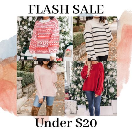 Sweaters under $20!!! Sale tab ❤️❤️ http://liketk.it/33eEK #liketkit @liketoknow.it #LTKgiftspo #StayHomeWithLTK #LTKsalealert Download the LIKEtoKNOW.it shopping app to shop this pic via screenshot