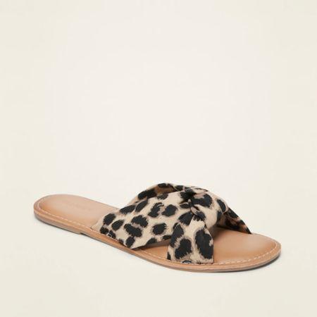 $22 knitted twist slide leopard sandal http://liketk.it/2R3rj #liketkit @liketoknow.it #LTKshoecrush #LTKsalealert #LTKstyletip