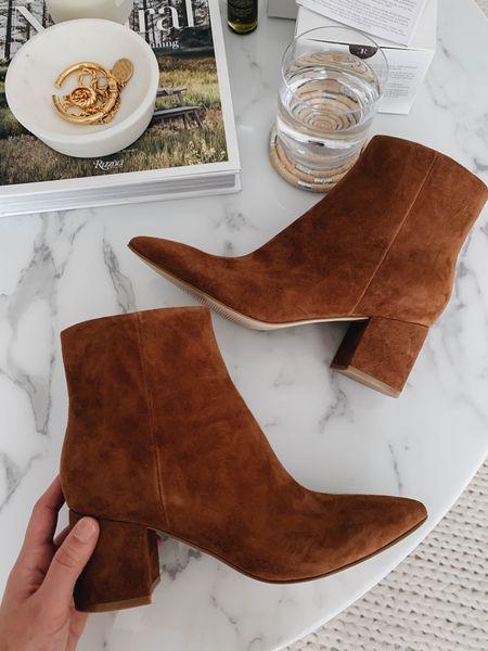 Loeffler Randall Isla booties. Go up at least a half size. Beautiful, well made boots. Pair well under straight leg jeans       #LTKshoecrush
