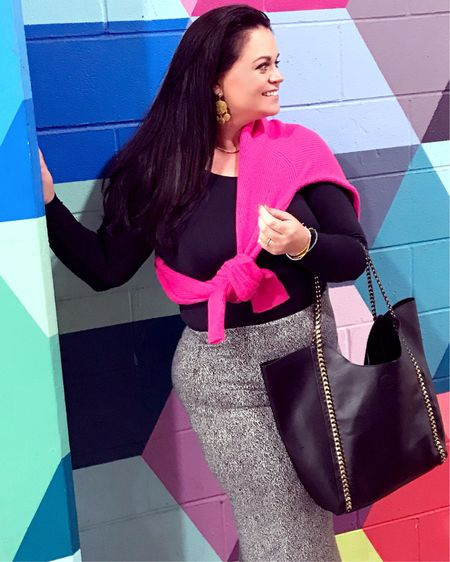 Pencil this - a pop of color to add a little oh la la to your day! I love a good black ensemble, but go wild for a vivid pop of color. This sweater is so comfy and comes in multiple colors too! . . 👉🏻  http://liketk.it/2xTMz #liketkit #LTKitbag #LTKstyletip #LTKshoecrush #LTKunder100 #LTKsalealert #LTKcurves  Shop your screenshot of this pic with the LIKEtoKNOW.it app @liketoknow.it