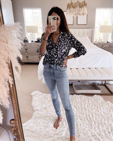 Casual style, Anthropologie top, jeans, StylinByAylin   #LTKstyletip #LTKunder100