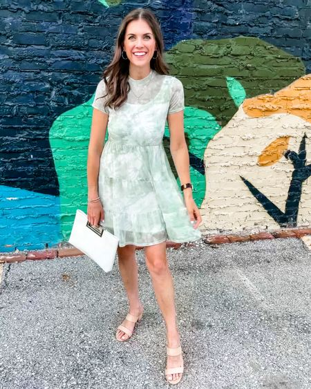 Date night outfit! This cute dress is on sale from $35 for $14! http://liketk.it/3i3X7 #liketkit @liketoknow.it  #momstyle #datenight #datenightoutfit #momlook #blockheels #whitepurse #amazon #dress #kohls #onsale #clearance