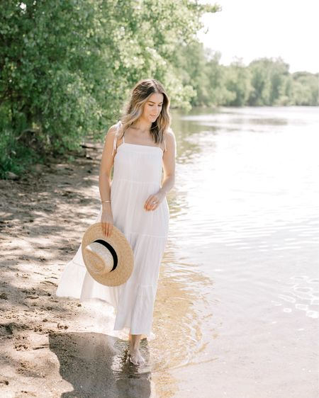 White maxi dress http://liketk.it/3hMqh @liketoknow.it #liketkit