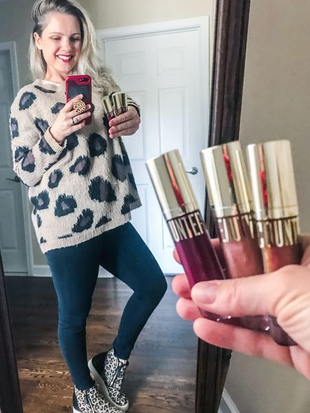 Fall Outfits 🍂 Love my leopard print oversized sweater and Steve Madden wedges; they're from last year's collection, but I linked a couple great alternatives. Also, this non toxic lip gloss by Beautycounter is my fave! I stopped wearing glosses years ago bc my hair would inevitably stick to my lips - this doesn't do that!   ✨Bonus: it contains responsibility sourced vanilla and smells like a cookie!    http://liketk.it/2XkkK #liketkit @liketoknow.it #LTKfall #LTKshoecrush #LTKstyletip #LTKbeauty