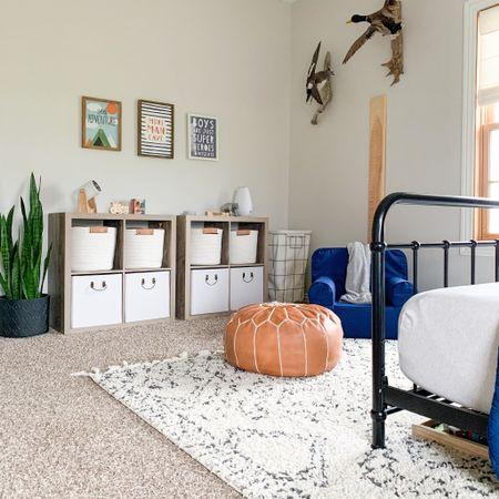 Our oldest son's woodland themed bedroom. Kids room inspo.   #LTKhome #LTKfamily #LTKkids