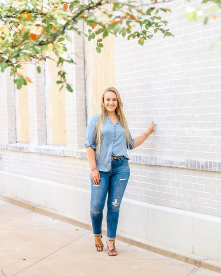 Express jeans and satin blouse  You can instantly shop all of my looks by following me on the LIKEtoKNOW.it app    http://liketk.it/2Exor #liketkit @liketoknow.it #LTKsalealert #LTKshoecrush #LTKstyletip #LTKcurves