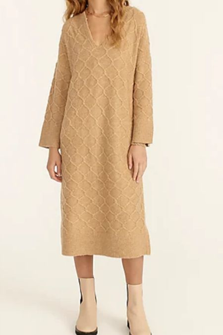 Cable knit stretch sweater dress   #LTKSeasonal #LTKsalealert #LTKstyletip