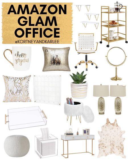Amazon Glam Office!  Amazon home decor | Amazon glam office | Amazon office decor | glam office decor | amazon home decor favorites | amazon home | amazon finds | amazon favorites | amazon home finds | amazon home finds | amazon prime | amazon finds for the home | amazon home favorites | must haves for the home | amazon must haves for the home | Kortney and Karlee | #Kortneyandkarlee #LTKunder50 #LTKunder100 #LTKsalealert #LTKstyletip #LTKSeasonal #LTKhome @liketoknow.it #liketkit