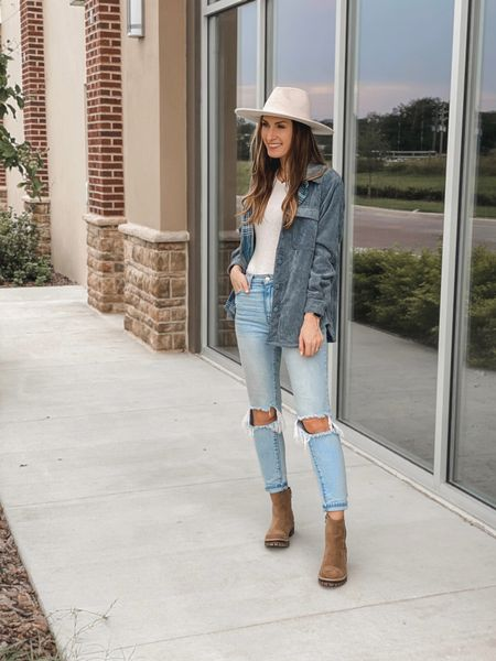 **sizing: shacket- small (it's a little short in the arms, I like the medium better) | bodysuit- xs |jeans- 3, I sized up one | boots- 8 | Reversible shacket. Walmart outfit. Walmart fashion. Walmart boots. Walmart mom jeans. Chelsea boots. Wide brim hat  #ltkunder30 #shacket #reversibleshacket #affordable #fallfashion #lugboot #chelseaboot #walmartfinds @walmart @walmartfashion   #LTKunder50 #LTKSeasonal #LTKstyletip