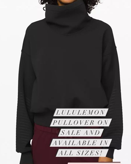 Lululemon pullover on sale! http://liketk.it/38lVH #liketkit #LTKunder100 #LTKsalealert @liketoknow.it