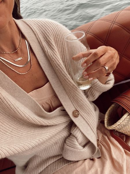 Layered necklaces // gold beaded necklace Miranda Fry, London style, 10% off with code Shannon (can't link it here)