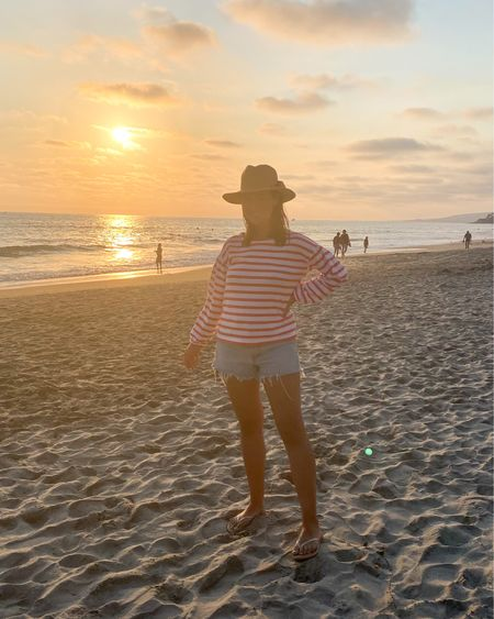 #shotoniphone 📸 low quality photo but the BEST quality night with my favorite girls 👯♀️👯♀️ beach & sushi dates every night?! YES PLEASE 🍣🍱🏝🌅👙🌊 my go to jean shorts & puff sleeve top are linked on LTK 👏🏼 http://liketk.it/3jMcz #liketkit @liketoknow.it