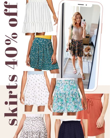 http://liketk.it/3hgBr #liketkit @liketoknow.it So many cute skirts on sale at Loft right now! Use code LUCKY to get 40% off!