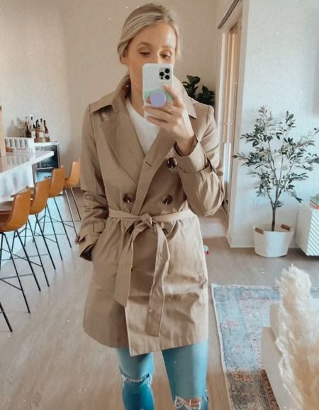 Two affirdable trench coat options from the Nordstrom anniversary sale! I'm wearing my regular size small.   #LTKsalealert #LTKstyletip #LTKunder100