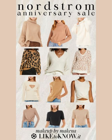 Save on these sweaters, t-shirts and tops, including this free people turtleneck sweater, during the Nordstrom Anniversary Sale now through August 8. # http://liketk.it/3jDkF #liketkit @liketoknow.it nsale   #LTKunder50 #LTKsalealert #LTKunder100