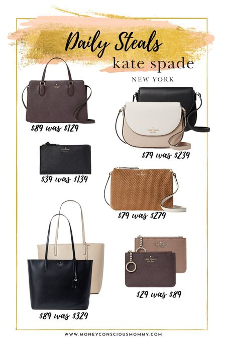 Daily Steals under $89 from Kate Spade!  crossbody | kate spade | wristlet | wallet | straw bag |  #LTKsalealert #LTKunder100 #LTKunder50