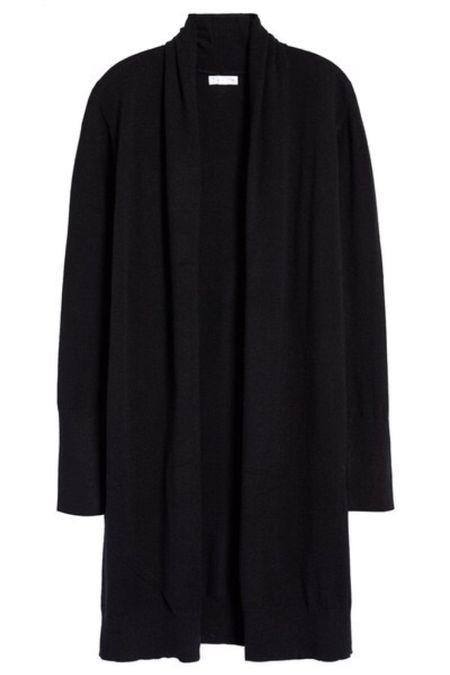 Cozy long cardigan | oversized cardigan | open front cardigan | black cardigan nsale | Nordstrom sale #LTKunder50 #LTKsalealert #LTKstyletip @liketoknow.it #liketkit http://liketk.it/2VnRA